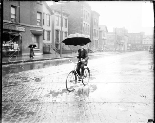 1915 Man on Bike