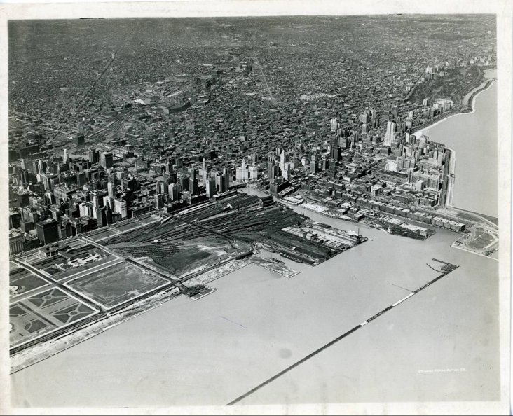 Grant Park and the Loop 1929